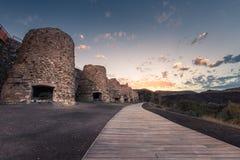 Tramonto in Lucainena de las Torres immagine stock libera da diritti
