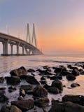 Tramonto magico di Mumbai fotografie stock libere da diritti