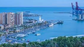 Tramonto a Malaga Vista da sopra archivi video