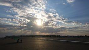 Tramonto, mare, oceano fotografia stock libera da diritti