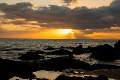 Tramonto in Maui Immagini Stock Libere da Diritti