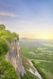 Tramonto in montagna. Fotografia Stock Libera da Diritti