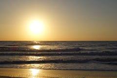 Tramonto morbido del mare di incandescenza Fotografie Stock Libere da Diritti