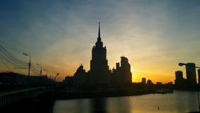Tramonto a Mosca Immagine Stock Libera da Diritti