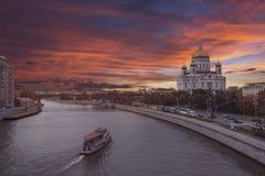 Tramonto a Mosca Fotografia Stock