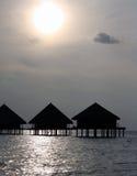 Tramonto nei Maldives Immagine Stock