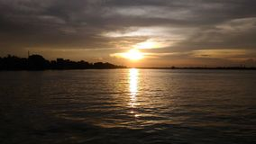 Tramonto nel Bengala Occidentale fotografie stock