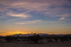 Tramonto nel deserto - 3 fotografia stock
