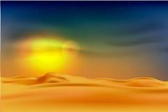 Tramonto nel deserto illustrazione di stock