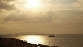 Tramonto nel golfo di Smirne video d archivio