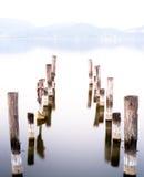 Tramonto nel lago Fotografie Stock Libere da Diritti