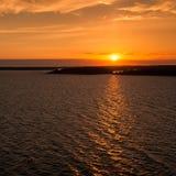 Tramonto nel Mar Baltico Fotografia Stock