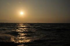 Tramonto nel mar Egeo immagine stock