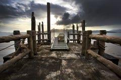Tramonto nel mare Fotografie Stock