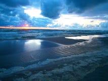 Tramonto nel mare Fotografia Stock