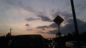 tramonto nel mio viaggio Fotografia Stock