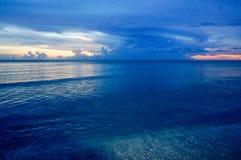 Tramonto nell'isola di Sanibel fotografie stock
