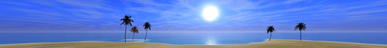 Tramonto nell'oceano, l'alba sopra il mare, la luce sopra il mare fotografia stock