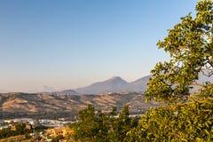 Tramonto nella campagna italiana Fotografia Stock