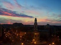tramonto nella rotatoria Fotografia Stock Libera da Diritti