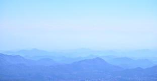 Tramonto nelle montagne Alpi di Dinaric, montagne di Lovcen, Montenegro Fotografie Stock Libere da Diritti