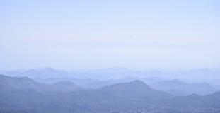 Tramonto nelle montagne Alpi di Dinaric, montagne di Lovcen, Montenegro Immagini Stock Libere da Diritti