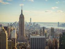 Tramonto a New York fotografia stock