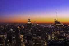 Tramonto New York Immagine Stock