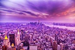 Tramonto a New York City Fotografia Stock