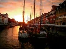 Tramonto in Newhavn Fotografie Stock Libere da Diritti