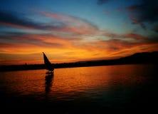 tramonto nilo Obraz Stock