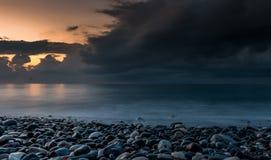 Tramonto nuvoloso fotografia stock libera da diritti