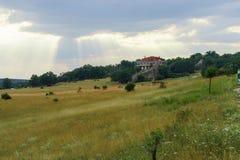 Tramonto nuvoloso alla Spagna Fotografie Stock Libere da Diritti