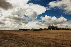 Tramonto nuvoloso sopra Danmark Fotografie Stock Libere da Diritti