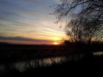 tramonto o alba Fotografia Stock