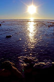 Tramonto, oceano, San Diego, Torrey Pines State Park Immagine Stock Libera da Diritti
