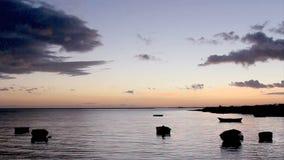 Tramonto in Olhão. Algarve. Il Portogallo video d archivio