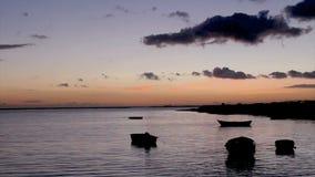 Tramonto in Olhão. Algarve. Il Portogallo stock footage