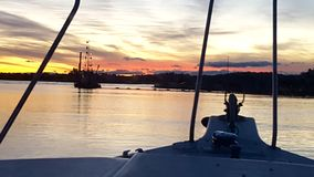 Tramonto orientale dei canali navigabili di Gippsland fotografie stock