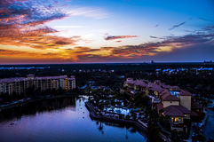 Tramonto a Orlando fotografie stock libere da diritti