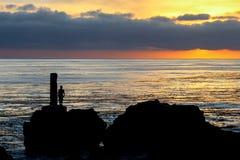 Tramonto a Palos Verdes California fotografia stock