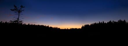 tramonto panoramico Fotografie Stock