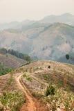 Tramonto panoramico dal Mountain View Fotografia Stock Libera da Diritti