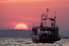 Tramonto pattaya della Tailandia Fotografia Stock Libera da Diritti