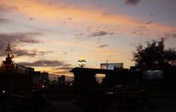 Tramonto in Phnom Penh immagine stock libera da diritti