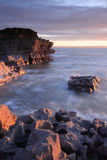 Tramonto a Porthcawl, Galles del sud Immagini Stock Libere da Diritti