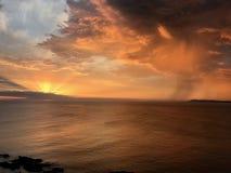 Tramonto in Punta Ballena, Uruguay fotografia stock libera da diritti