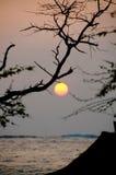 Tramonto recente alla spiaggia di Anaeho'omalu Fotografie Stock