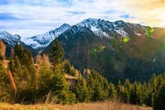 Tramonto recente in montagne Alpi paesaggio, Italia Fotografia Stock Libera da Diritti