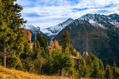 Tramonto recente in montagne Alpi paesaggio, Italia Immagini Stock Libere da Diritti